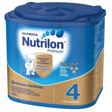 Детское молочко (молочная смесь) NutrilonДетское молочко (молочная смесь) Nutrilon 4 от 1 года 400 г, возраст 4 ступень (&gt;12 мес). Проконсультируйтесь со специалистом. Для детей с 18 мес.<br><br>Возраст: 4 ступень (&gt;12 мес)