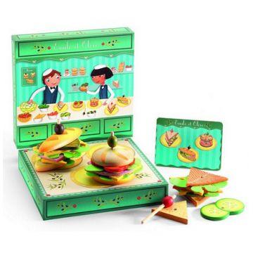 Сюжетно-ролевая игра DjecoСюжетно-ролевая игра Djeco «Сэндвичи от Эмиля и Олив», возраст от 4 лет<br><br>Возраст: от 4 лет