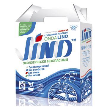 Стиральный порошок LINDСтиральный порошок LIND Универсальный без фосфатов 1,8 кг<br>