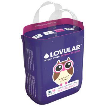 Трусики LovularТрусики ночные Lovular размер XL (12-17 кг) 18 шт, в упаковке 18 шт., размер XL (BIG)<br><br>Штук в упаковке: 18<br>Размер: XL (BIG)