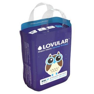 Трусики LovularТрусики ночные Lovular размер XXL (15-25 кг) 17 шт, в упаковке 17 шт., размер XXL<br><br>Штук в упаковке: 17<br>Размер: XXL