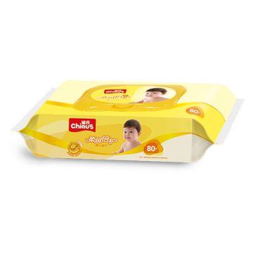 Салфетки детские влажные ChiausСалфетки детские влажые Chiaus Ромашка 80 шт (с клапаном), в упаковке 80 шт.<br><br>Штук в упаковке: 80