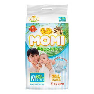 Подгузники MomiПодгузники MOMI размер M (6-11 кг) 62 шт, в упаковке 62 шт., размер M<br><br>Штук в упаковке: 62<br>Размер: M