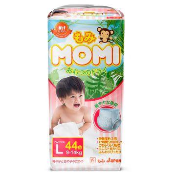 Трусики MomiТрусики MOMI размер L (9-14 кг) 44 шт, в упаковке 44 шт., размер L<br><br>Штук в упаковке: 44<br>Размер: L
