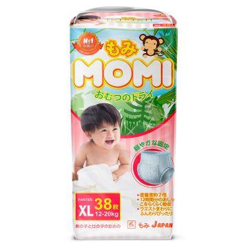 Трусики MomiТрусики MOMI размер XL (12-20 кг) 38 шт, в упаковке 38 шт., размер XL (BIG)<br><br>Штук в упаковке: 38<br>Размер: XL (BIG)