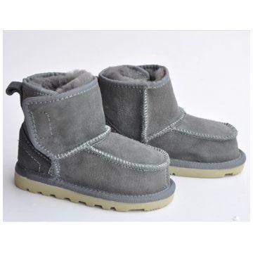 Ботиночки TwinkleБотиночки из натуральной овчины Twinkle Original Grey (серые) размер 21<br>