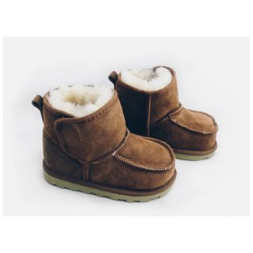 Ботиночки TwinkleБотиночки из натуральной овчины Twinkle Original Camel (коричневые) размер 23<br>