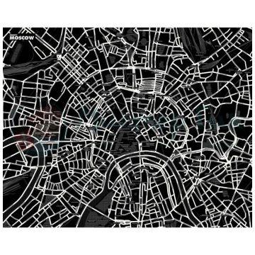 Карта LeFuturКарта МОСКВЫ LeFutur Palomar черный LF-E19723<br>