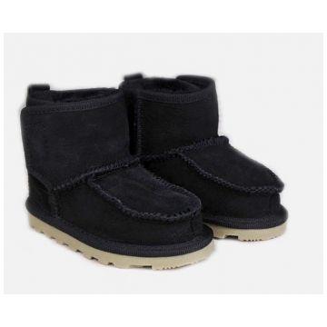 Ботиночки TwinkleБотиночки из натуральной овчины Twinkle Original Black (черные) размер 22<br>