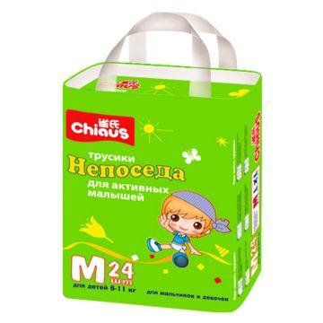 Трусики ChiausТрусики Chiaus Непоседа размер M (6-11 кг) 24 шт, в упаковке 24 шт., размер M<br><br>Штук в упаковке: 24<br>Размер: M