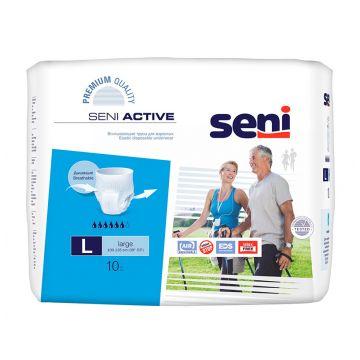 Трусики SeniТрусики Seni Active Large 3 талия 100-135 см (10 шт), в упаковке 10 шт., размер размер 3<br><br>Штук в упаковке: 10<br>Размер: размер 3
