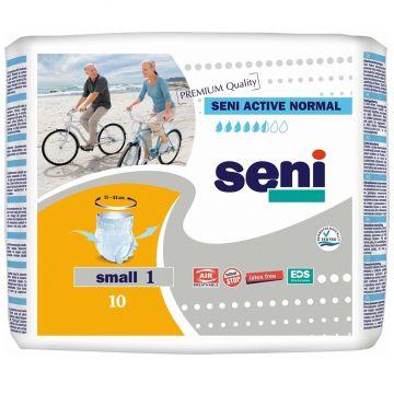 Трусики SeniТрусики Seni Active Normal Small 1, талия 55-85 см (10 шт), в упаковке 10 шт., размер размер 1<br><br>Штук в упаковке: 10<br>Размер: размер 1