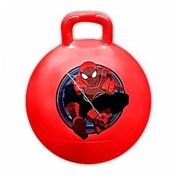 Мяч с ручкой Disney Человек паук 45см красный