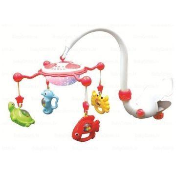 Baby Mix Музыкальная карусель с ночником   and quot;Подводный мир and quot; (красная). 9001Baby Mix Музыкальная карусель с ночником  Подводный мир (красная). 9001<br>