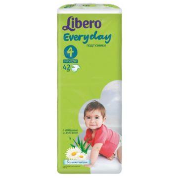 Подгузники LiberoПодгузники Libero Every Day размер L (7-18 кг) с ромашкой 42 шт, в упаковке 42 шт., размер L<br><br>Штук в упаковке: 42<br>Размер: L