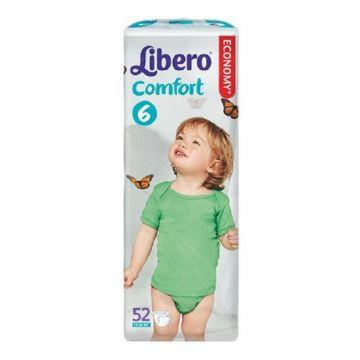 Подгузники LiberoПодгузники Libero comfort размер XL (12-22 кг) 52 шт, в упаковке 52 шт., размер XL (BIG)<br><br>Штук в упаковке: 52<br>Размер: XL (BIG)
