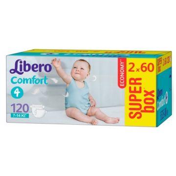Подгузники LiberoПодгузники Libero comfort размер L (7-14 кг) 120 шт, в упаковке 120 шт., размер L<br><br>Штук в упаковке: 120<br>Размер: L