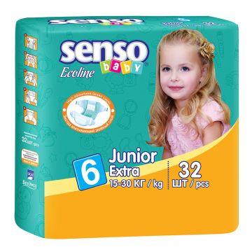 Подгузники Senso babyПодгузники Senso Baby Ecoline размер XXL (15-30 кг) 32 шт, в упаковке 32 шт., размер XXL<br><br>Штук в упаковке: 32<br>Размер: XXL