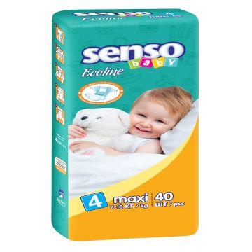 Подгузники Senso babyПодгузники Senso Baby Ecoline размер L (7-18 кг) 40 шт, в упаковке 40 шт., размер L<br><br>Штук в упаковке: 40<br>Размер: L
