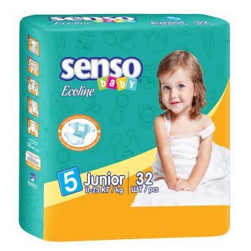 Подгузники Senso babyПодгузники Senso Baby Ecoline размер XL (11-25 кг) 32 шт, в упаковке 32 шт., размер XL (BIG)<br><br>Штук в упаковке: 32<br>Размер: XL (BIG)