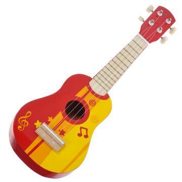 Hape Игрушка деревянная музыкальная  and quot;Гитара красная and quot; Е0316Hape Игрушка деревянная музыкальная Гитара красная Е0316<br>
