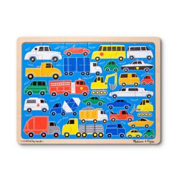 Пазл Melissa and DougПазл Melissa and Doug Мои первые транспортные средства 24 элемента, возраст от 3 лет<br><br>Возраст: от 3 лет