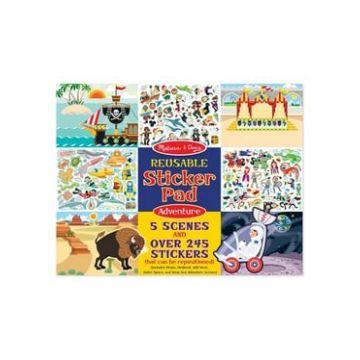 Набор для творчества Melissa and DougНабор для творчества Melissa and Doug Приключения со стикерами и фоном, возраст от 4 лет<br><br>Возраст: от 4 лет
