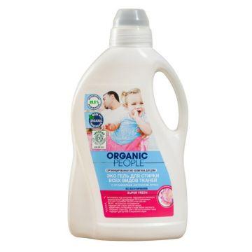 Гель для стирки Organic PeopleЭко гель Organic Peole для стирки всех видов тканей 1,5 л, объем, 1500л.<br><br>Объем, л.: 1500