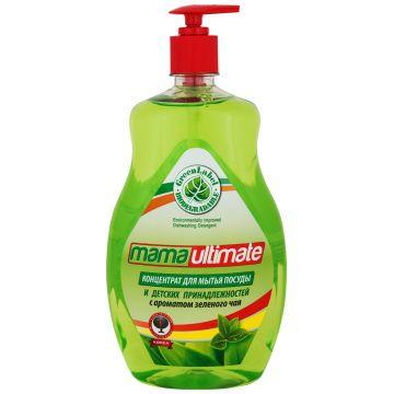 Концентрированное средство для мытья посуды и детских принадлежностей Mama UltimateКонцентрированное средство для мытья посуды и детских принадлежностей Mama Ultimate Зеленый чай, 1000 мл<br>