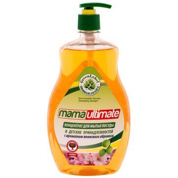 Концентрированное средство для мытья посуды и детских принадлежностей Mama UltimateКонцентрированное средство для мытья посуды и детских принадлежностей Mama Ultimate Японский Абрикос, 1000 мл<br>