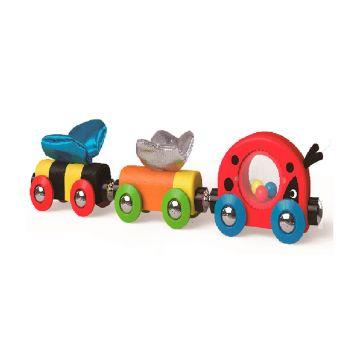 Развивающий набор Hape Веселый поезд E3806Развивающий набор Hape Веселый поезд E3806, возраст от 18 мес<br><br>Возраст: от 18 мес