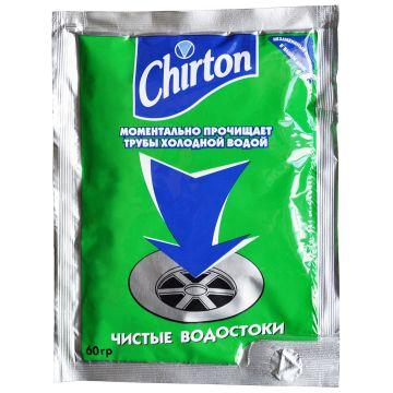 Порошок для моментальной прочистки канализационных труб холодной водой ChirtonПорошок для моментальной прочистки канализационных труб холодной водой Chirton  60 г<br>