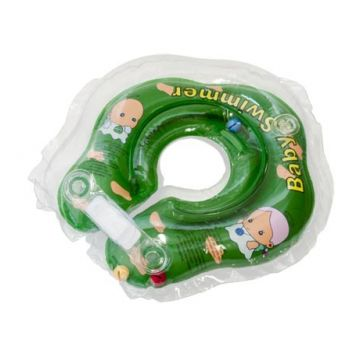 Надувной круг на шею для купания новорожденных BabySwimmer ЗЕЛЕНЫЙ