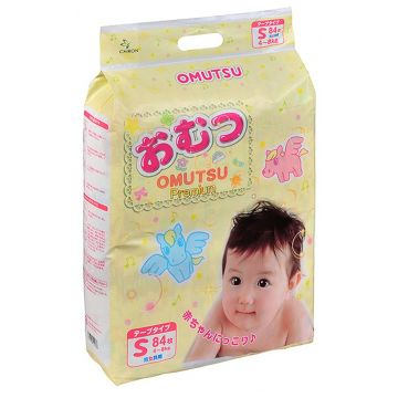 Подгузники OmutsuПодгузники детские Omutsu размер S (4-8 кг) 84 шт, в упаковке 84 шт., размер S<br><br>Штук в упаковке: 84<br>Размер: S