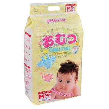 Трусики OmutsuТрусики детские Omutsu размер M (6-10 кг) 58 шт, в упаковке 58 шт., размер M<br><br>Штук в упаковке: 58<br>Размер: M