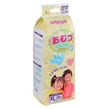 Трусики OmutsuТрусики детские Omutsu размер XL (12-22 кг) 38 шт, в упаковке 38 шт., размер XL (BIG)<br><br>Штук в упаковке: 38<br>Размер: XL (BIG)