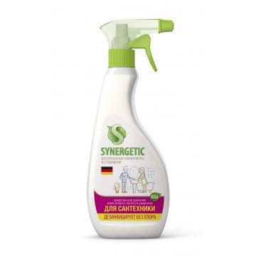 Спрей чистящий SynergeticСредство для чистки сантехники, ванн, раковин, душевых кабин, Synergetic спрей, 500 мл, объем, 0.5л.<br><br>Объем, л.: 0.5