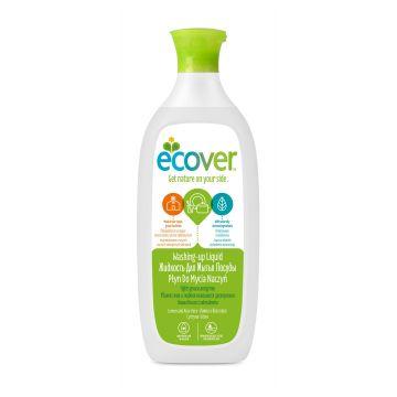 Жидкость для мытья посуды Ecover EcoverЖидкость для мытья посуды Ecover с лимоном и алоэ-вера экологическая 500 мл<br>