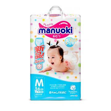 Трусики ManuokiТрусики Manuoki, размер М (6-11 кг) 56 шт, в упаковке 56 шт., размер M<br><br>Штук в упаковке: 56<br>Размер: M