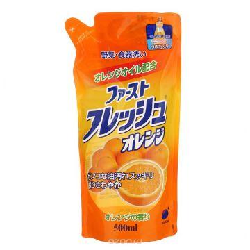 Гель для мытья посуды Daiichi Fresh аромат апельсина 500 мл запасной блок