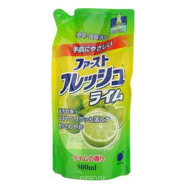 Гель для мытья посуды Daiichi Fresh аромат лайма 500 мл запаска