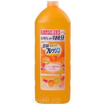 Пенное антибактериальное средство для мытья посуды и фруктов DaiichiПенное антибактериальное средство для мытья посуды и фруктов Daiichi Fresh аромат апельсина 850 мл<br>