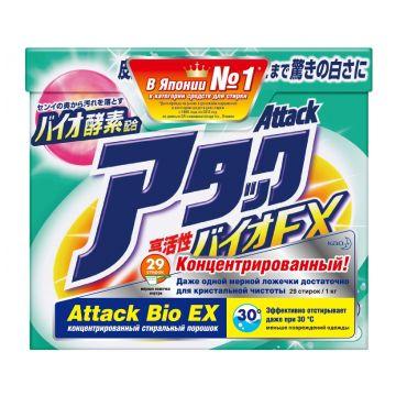 Стиральный порошок AttackСтиральный порошок Attack BioEX концентрированный универсальный 1 кг<br>