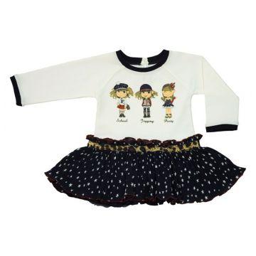 Платье Bebepan с девочками серия Star разм. 3-6 мес. арт. 7704_3-6