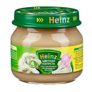 Детское пюре HeinzДетское пюре Heinz цветная капуста с 4 мес. 80 г, объем, 80л., возраст 2 ступень (3-6 мес). Проконсультируйтесь со специалистом. Для детей с 4 мес.<br><br>Объем, л.: 80<br>Возраст: 2 ступень (3-6 мес)