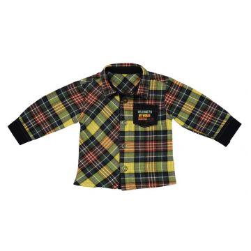 Рубашка BebepanРубашка Bebepan (в клеточку) серия World 9-12 мес. арт. 7589_9-12, возраст 9-12 мес.<br><br>Возраст: 9-12 мес.