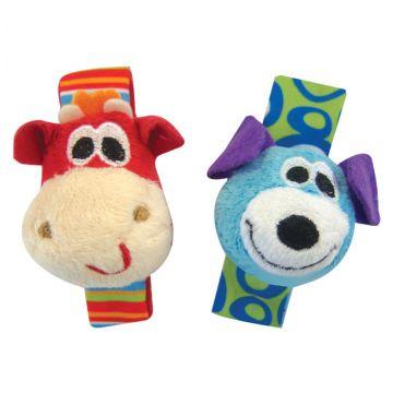 Набор мягких игрушек-погремушек на ручку PlayGroНабор мягких игрушек-погремушек на ручку PlayGro 0181581, возраст с 0 мес.<br><br>Возраст: с 0 мес.