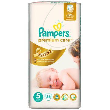 Подгузники PampersПодгузники Pampers Premium Care Junior (11-18 кг) Джамбо упаковка 56 шт, в упаковке 56 шт., размер XL (BIG)<br><br>Штук в упаковке: 56<br>Размер: XL (BIG)