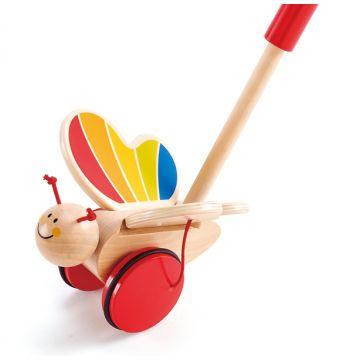Игрушка деревянная HapeИгрушка деревянная Hape каталка Бабочка Е0340, возраст с 12 мес.<br><br>Возраст: с 12 мес.