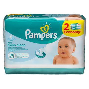 Салфетки детские увлажненные PampersСалфетки детские увлажненные Pampers Baby Fresh Clean 128 шт, в упаковке 128 шт.<br><br>Штук в упаковке: 128